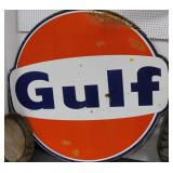 "VINTAGE ""GULF"" SIGN - 72"" DIAMETER SINGLE SIDED -"