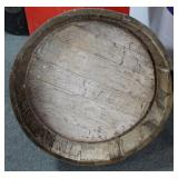 "BARREL PLANTER - 7 1/2"" H X 24 1/2"" DIAMETER"