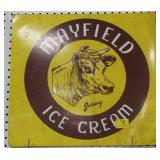 "METAL ""MAYFIELD"" ICE CREAM ADVERTISING SIGN - 18"""