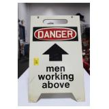 "SANDWICH BOARD SIGN ""DANGER - MEN WORKING ABOVE"""