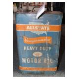 VINTAGE ALLSTATE HEAVY DUTY MOTOR OIL CAN