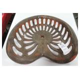 ANTIQUE IRON TRACTOR SEAT EMBOSSED: E.H. & M.