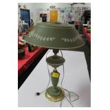 GREEN METAL TABLE LAMP
