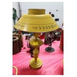 YELLOW METAL TABLE LAMP