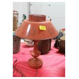 RUST COLORED METAL TABLE LAMP