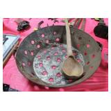 "21"" GALVAINZED SIEVE WITH GOURD DIPPER"