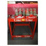 METAL COKE STAND WITH COKE BOTTLES