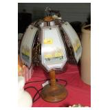 LAMP WITH LAST SUPPER GLASS PANES