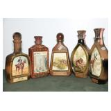 5 COLLECTIBLE JIM BEAM BOTTLES