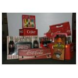 GROUPING: COCA-COLA COLLECTIBLE BOTTLES AND 6