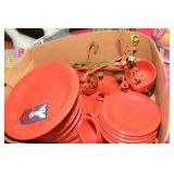 RED CERAMIC DINNERWARE - 34 PCS. MADE IN ITALY