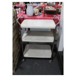 VINTAGE METAL 3 TIER CART
