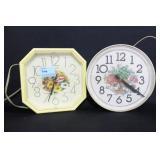 2 KITCHEN ELECTRIC WALL CLOCKS