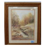 COUNTRY SCENE PRINT - FRAMED AND MATTED