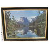 3 PRINTS: MOUNTAIN SCENE, COUNTRY BASKET AND