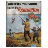 REMINGTON METAL ADVERTISING SIGN - REPRODUCTION