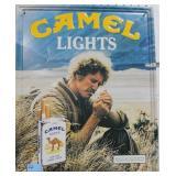 CAMEL LIGHTS METAL ADVERTISING SIGN