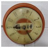 VINTAGE GULF ELECTRIC WALL CLOCK