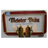 MEISTER BRAU LIGHTED ADVERTISING SIGN - WORKS