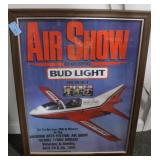 BUD LIGHT AIR SHOW ADVERTISING POSTER FOR 1995