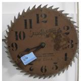 SEARS, ROEBUCK & CO. SAW BLADE SHOP CLOCK -