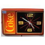 COCA-COLA ELECTRIC WALL CLOCK