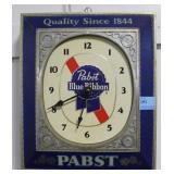 PABST BLUE RIBBON ELECTRIC WALL CLOCK