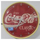 COCA-COLA BATTERY OPERATED WALL CLOCK