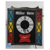 MILLER HIGH LIFE LIGHTED WALL CLOCK ADVERTISING -