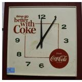 COCA-COLA ELECTRIC WALL CLOCK - WORKS