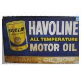 VINTAGE HAVOLINE MOTOR OIL TIN SIGN