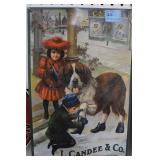 L. CANDEE & CO. ADVERTISING TIN SIGN