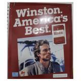 WINSTON ADVERTISING TIN SIGN