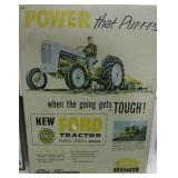 FORD TRACTOR ADVERTISING TIN SIGN