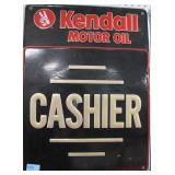 KENDALL MOTOR OIL - CASHIER - TIN SIGN