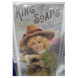 W. & H. WALKER - KING OF SOAPS - CARBOARD