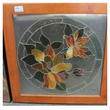 STAINED GLASS WINDOW PANEL - SOUTHERN MAGNOLIA