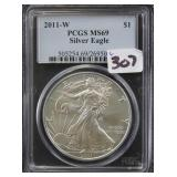 2011-W SILVER EAGLE - PCGS GRADED MS69