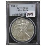 2012-W SILVER EAGLE - PCGS GRADED MS69