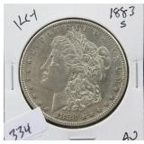 1883-S MORGAN SILVER DOLLAR - KEY DATE