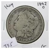1892-O MORGAN SILVER DOLLAR - KEY DATE