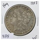 1893 MROGAN SILVER DOLLAR - KEY DATE