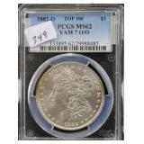 1882-O MORGAN SILVER DOLLAR - PCGS GRADED MS62