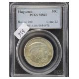HUGUENOT - PCGS GRADED MS64 50¢ COIN SERIES: 100