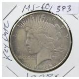 1928-S PEACE DOLLAR - KEY DATE