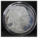 INDIAN HEAD / BUFFALO 1 OZ. SILVER ROUND