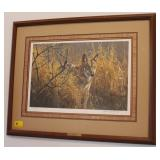 """RED WOLF"" BY ROBERT BATEMAN SIGNED 804 OF 950"