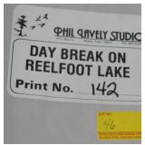 DAYBREAK ON REALFOOT LAKE BY PHIL LAVELY SIGNED