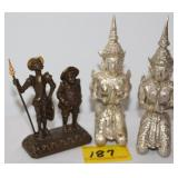 3PC EGYPTIAN FIGURES 3""