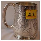 SILVER PLATED CUP E.P.N.S ENGRAVED I.A.C INDIA